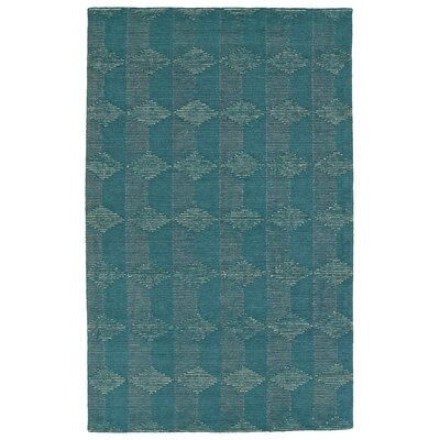 Cilegon Handmade Teal Area Rug Rug Size: Rectangle 36 x 56