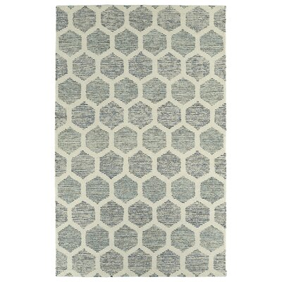 Cilegon Hand-Tufted Ivory/Green Area Rug Rug Size: Rectangle 5 x 79