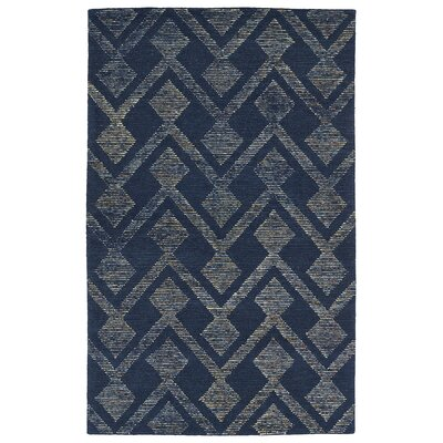 Cilegon Handmade Navy Area Rug Rug Size: Rectangle 2 x 3