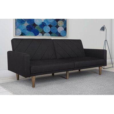 Ferris Sleeper Sofa Upholstery: Black