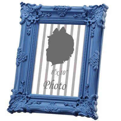 Baroque Picture Frame Color: Blue, Size: 5