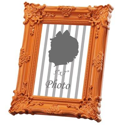 Baroque Picture Frame Color: Orange, Size: 8