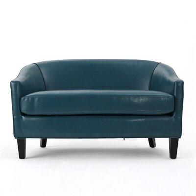 Elmore Loveseat Upholstery: Leather - Teal