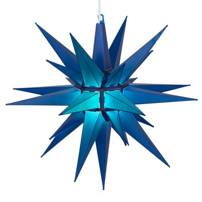LED Moravian Star Color: Blue
