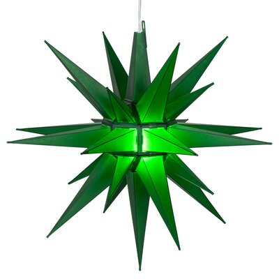 LED Moravian Star Color: Green