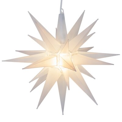 LED Moravian Star Color: Frosted White