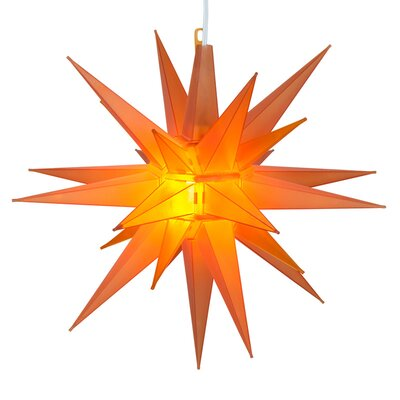 LED Moravian Star Color: Amber