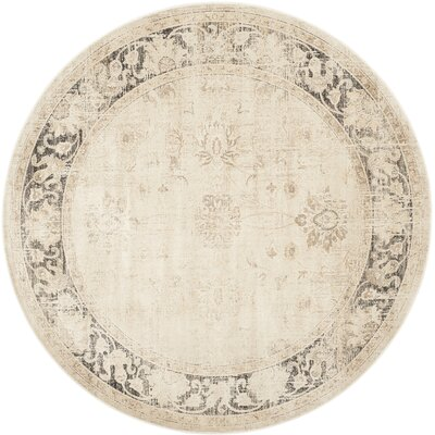 Gillmore Stone Area Rug Rug Size: Round 6