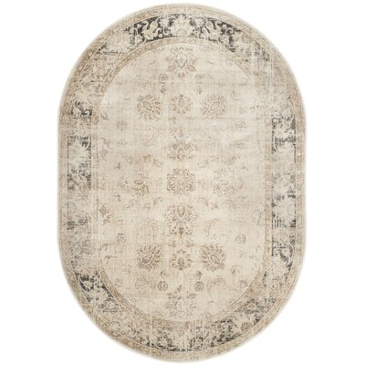 Gillmore Stone Area Rug Rug Size: Oval 53 x 76