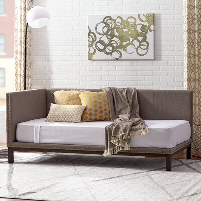 Carwile Mid Century Daybed Color: Grey