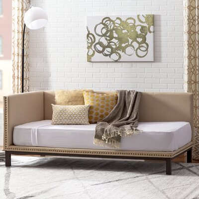 Carwile Mid Century Daybed Color: Tan
