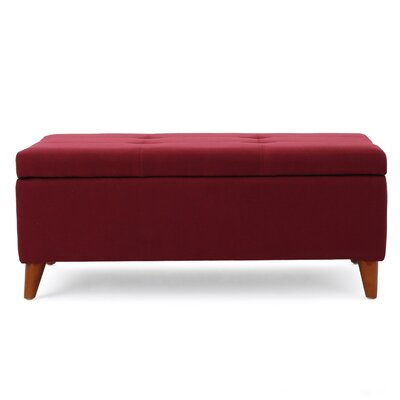 Filton Storage Ottoman Color: Red