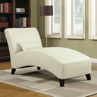 Brennan Leather Chaise Lounge Upholstery: Cream