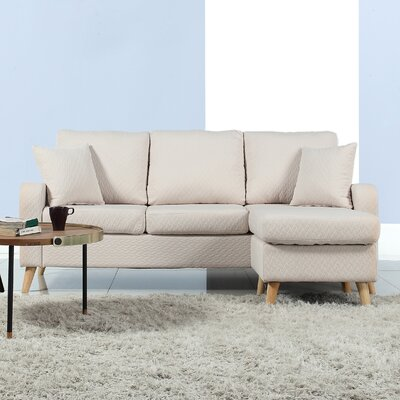 Northville Reversible Sectional Upholstery: Beige