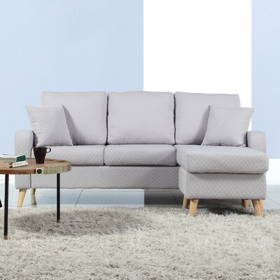 Northville Reversible Sectional Upholstery: Light Gray