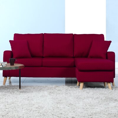 Northville Reversible Sectional Upholstery: Red