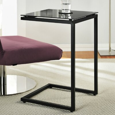 Bonetti C Shaped End Table Color: Black