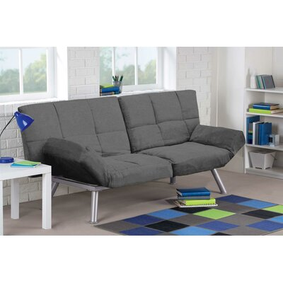 Cassandra Convertible Sofa Upholstery: Charcoal