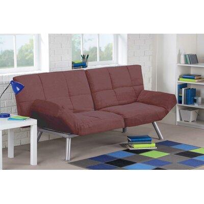 Cassandra Convertible Sofa Upholstery: Brown