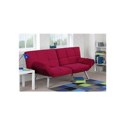 Cassandra Convertible Sofa Upholstery: Red