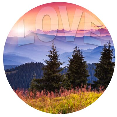 Round 'Love' Photographic Print