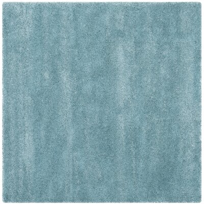 Holliday Aqua Blue Area Rug Rug Size: Square 7