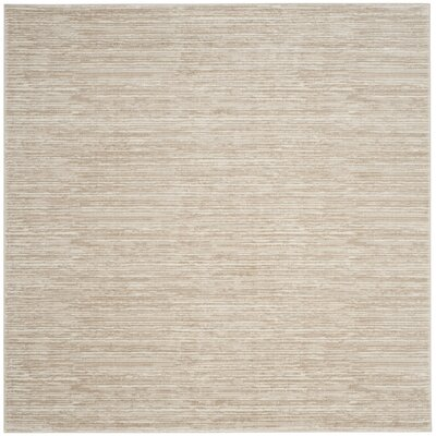 Harloe Ivory/Cream Area Rug Rug Size: Square 5