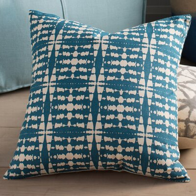 Clevedon Cotton Pillow Cover Size: 18 H x 18 W x 1 D, Color: Green