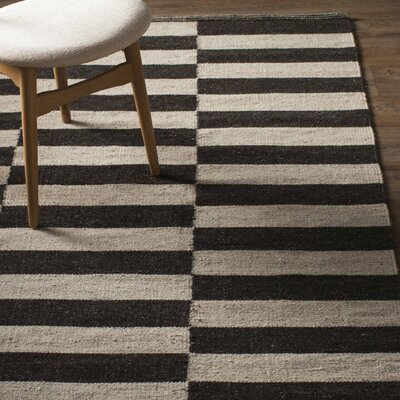 Campbelltown Ivory & Black Area Rug Rug Size: 2 x 3