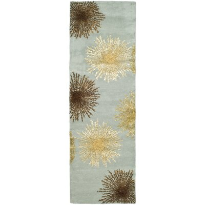 Dash Blue Area Rug Rug Size: Runner 26 x 14