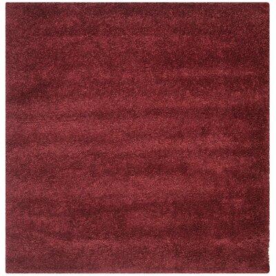 Aranda Flokati Maroon Area Rug Rug Size: Square 67