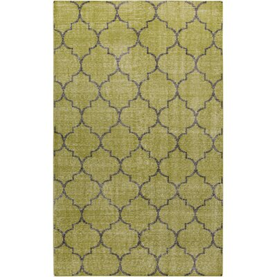 Casteel Geometric Olive Area Rug Rug size: Rectangle 56 x 86