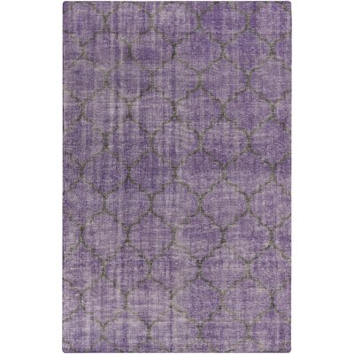 Casteel Geometric Violet Area Rug Rug size: Rectangle 2 x 3