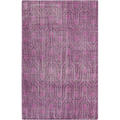 Casteel Geometric Magenta Area Rug Rug Size: Rectangle 36 x 56