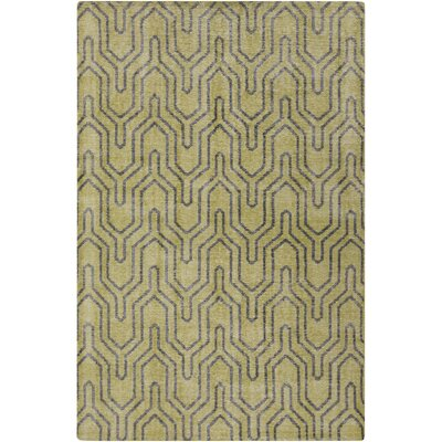 Casteel Geometric Lime Area Rug Rug size: Rectangle 56 x 86