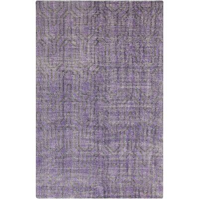 Casteel Geometric Violet Area Rug Rug size: Rectangle 8 x 11