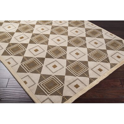 Callen Beige/Chocolate Area Rug Rug Size: Rectangle 9 x 13