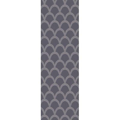 Villegas Gray Area Rug Rug Size: Runner 26 x 8
