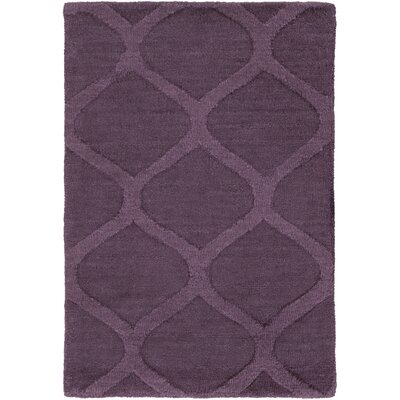 Villegas Hand Woven Wool Eggplant Area Rug Rug Size: Rectangle 8 x 11