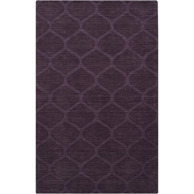 Villegas Hand Woven Wool Eggplant Area Rug Rug Size: Rectangle 5 x 8