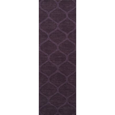 Villegas Hand Woven Wool Eggplant Area Rug Rug Size: Runner 26 x 8