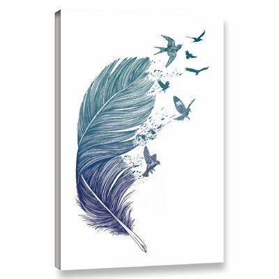 'Fly Away' Print on Wrapped Canvas Size: 12