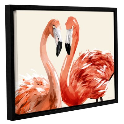 'Strike a Pose' Framed Graphic Art Print on Wrapped Canvas Size: 14