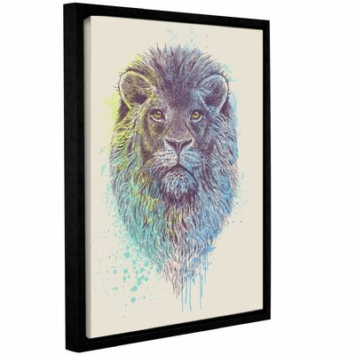'Lion King' Framed Graphic Art Print on Canvas Size: 10