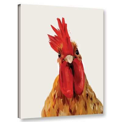 'Chicken or the Egg' Print on Wrapped Canvas Size: 10