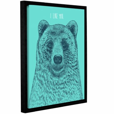 'I Like You Bear' Framed Graphic Art Print on Canvas Size: 10