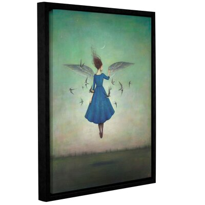 'Swift Encounter' Framed Graphic Art Print on Canvas Size: 10