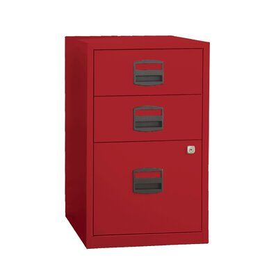 Castaneda 3 Drawer Steel Home or Office Filing Cabinet Finish: Cardinal Red