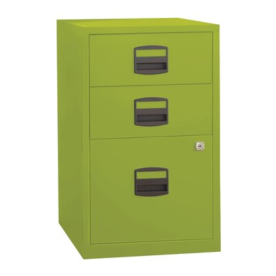 Castaneda 3 Drawer Steel Home or Office Filing Cabinet Finish: Green