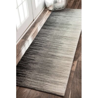 Sidwell Black Area Rug Rug Size: Runner 28 x 8